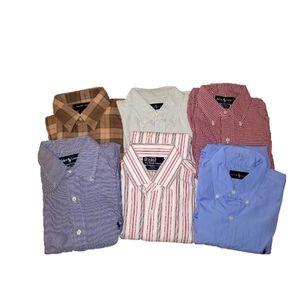 Bundle Of 6 Ralph Lauren Polo Button Down Shirts